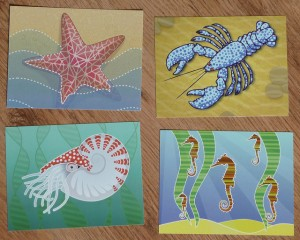 Colourful Undersea Life Postcards