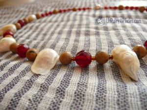 Red Siren Pearl & Jade Necklace