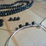 Wrapping onyx beads