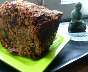 Black Banana Cake with Chocolate & Walnuts